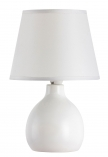 Ingrid, ceramic table lamp with fabric shade